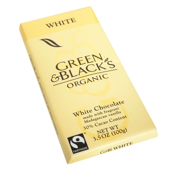 Green & Black's Chocolate 30% Cacao Organic White Chocolate Bar