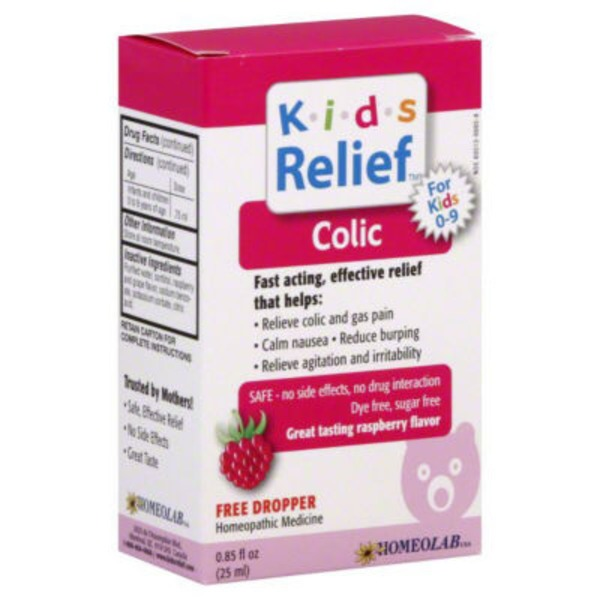 Kids Relief K-I-D-S Relief Oral Liquid Gas & Colic Raspberry Flavor