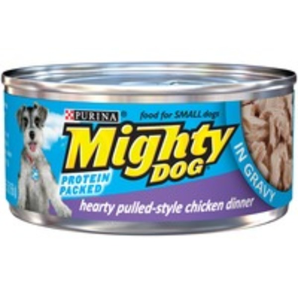 Mighty Dog Hearty Pulled-Style Chicken Dinner in Gravy Dog Food