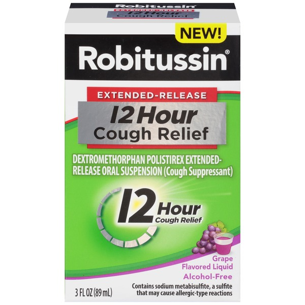Robitussin Extended-Release 12 Hour Grape Liquid Cough Suppressant