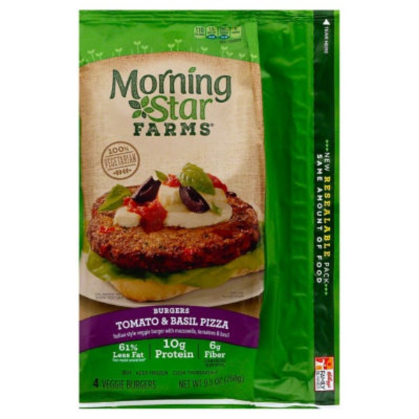 Morning Star Farms Tomato & Basil Pizza Veggie Burgers