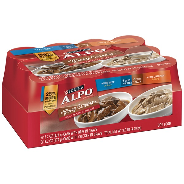Alpo Wet Gravy Cravers Variety Pack Dog Food