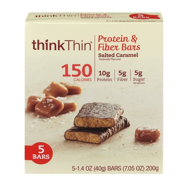 thinkThin Protein & Fiber Bars Salted Caramel