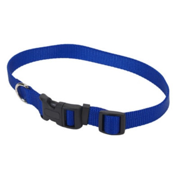 Coastal Pet 10-14 Inch Blue Adjustable Nylon Collar