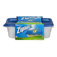 Ziploc Large Rectangle Containers with Lids (76 oz)