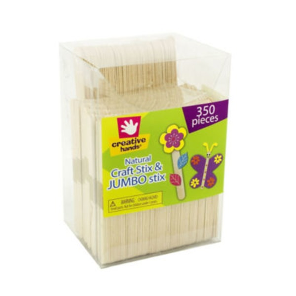Creative Hands Natural Craft Stix & Jumbo Stix