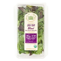 Whole Foods Market Organic 50/50 Blend Baby Spinach & Spring Mix