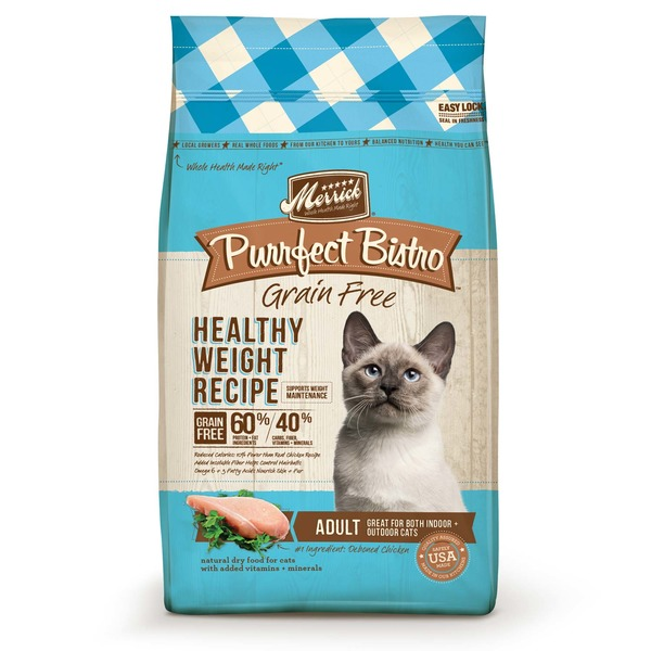 Merrick Purrfect Bistro Grain Free Healthy Weight Adult Cat Food 7 Lbs.