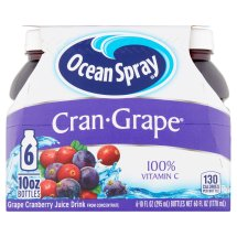 Ocean Spray Fruit Juice, Cran-Grape, 10 Fl Oz, 6 Count