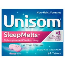 Unisom SleepMelts Cherry Flavor Diphenhydramine HCl Tablets, 24ct