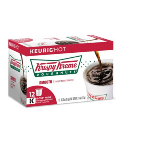 Krispy Kreme Smooth Light Roast Coffee, K-Cups