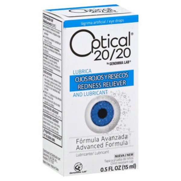 Optical 20/20 Advanced Formula Lubricating Eye Drops