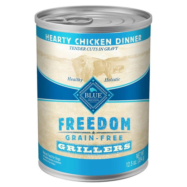 Blue Buffalo Hearty Chicken Dinner Freedom Grain Free Grillers Natural Food for Dogs