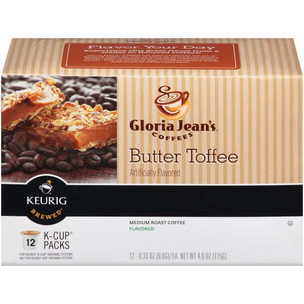 Gloria Jean's Coffee Butter Toffee K-Cup Packs Coffee