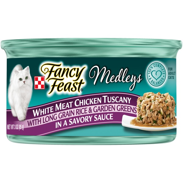 Fancy Feast Medleys White Meat Chicken Tuscany Cat Food