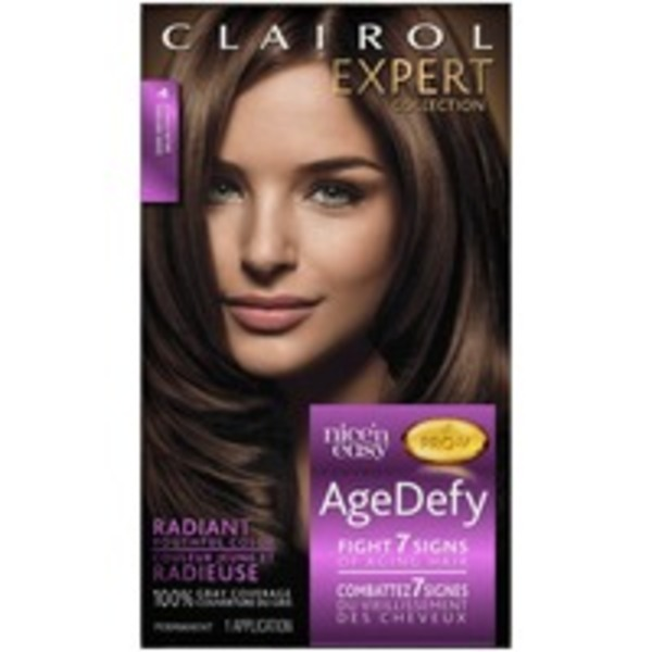 Clairol Age Defy Clairol Expert Nice 'n Easy Age Defy Permanent Hair Color 4 Dark Brown 1 Kit  Female Hair Color