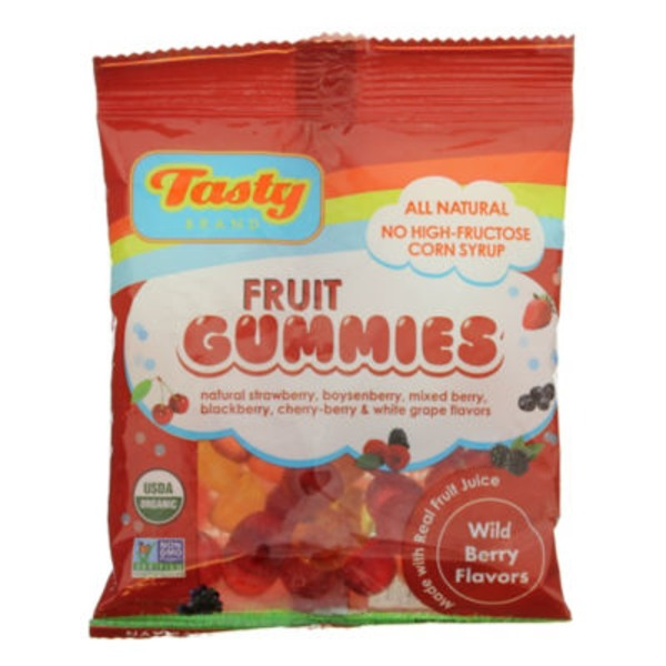 Tasty Brand Organic Wild Berry Fruit Gummies