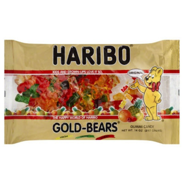 Haribo Gold-Bears Gummi Candy Fresh Fruity