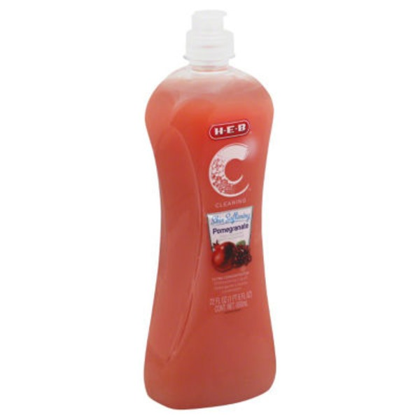 H-E-B Cleaning Ultra Concentrated Skin Softening Pomegranate Dishwashing Liquid