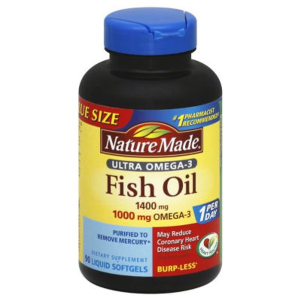 Nature Made Ultra Omega-3 Fish Oil Softgels - 90 CT