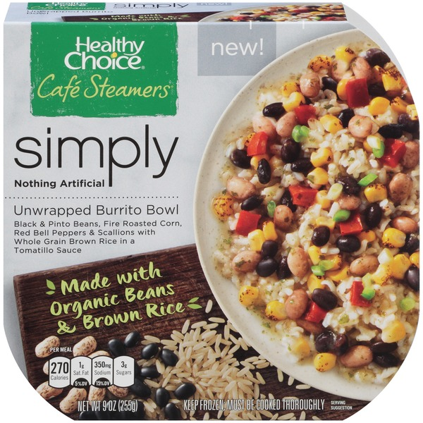 Healthy Choice Cafe Steamers Simply Unwrapped Burrito Bowl