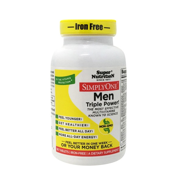 Super Nutrition Simply One Men Triple Power! Multi-Vitamin