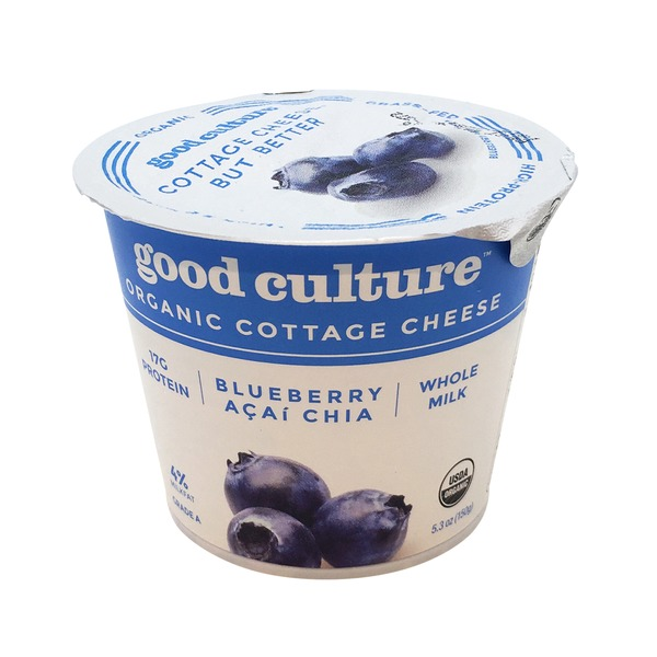 Good Culture Organic Cottage Cheese Blueberry Acai Chia