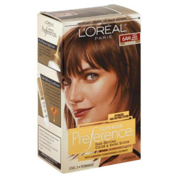 Superior Preference 6am Warmer Light Amber Brown Hair Color