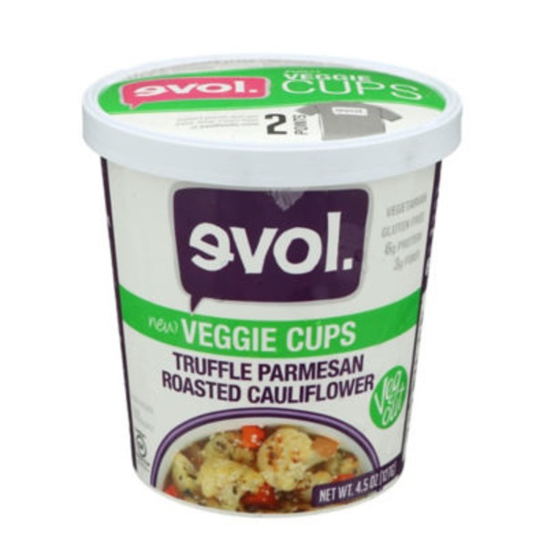 Evol Foods Truffle Parmesan Roasted Cauliflower Veggie Cups