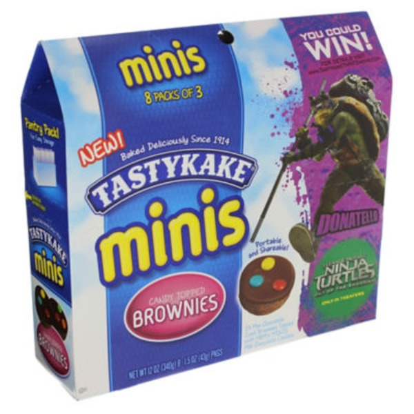 Tastykake Minis Candy Topped Brownies