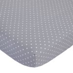 Child of Mine Crib Sheet - Grey Dot print