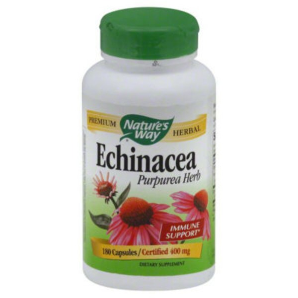Nature's Way Echinacea Purpurea Herb Capsules 400 mg