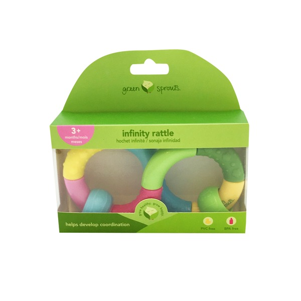 Green Sprouts by iPlay Infinity Teether Rattle