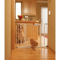Carlson Pet Products Extra Wide Expandable Gate With Small Pet Door