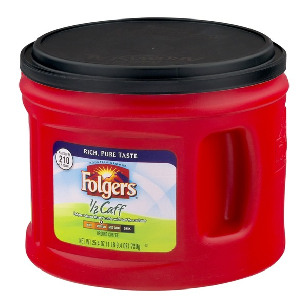 Folgers 1/2 Caff Medium Ground Coffee