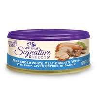 Wellness Signature Selects Grain Free Shredded White Meat Chicken With Chicken Liver Entree Canned