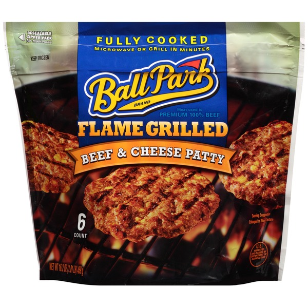 Ball Park Flame Grilled Beef & Cheese Patty