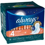 Always Ultra Thin Pads with Wings, Unscented, 14 Ct