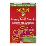 Annie's Organic Bunny Fruit Snacks, Summer Strawberry, 5 Pouches, 0.8 oz Each, 0.8 OZ