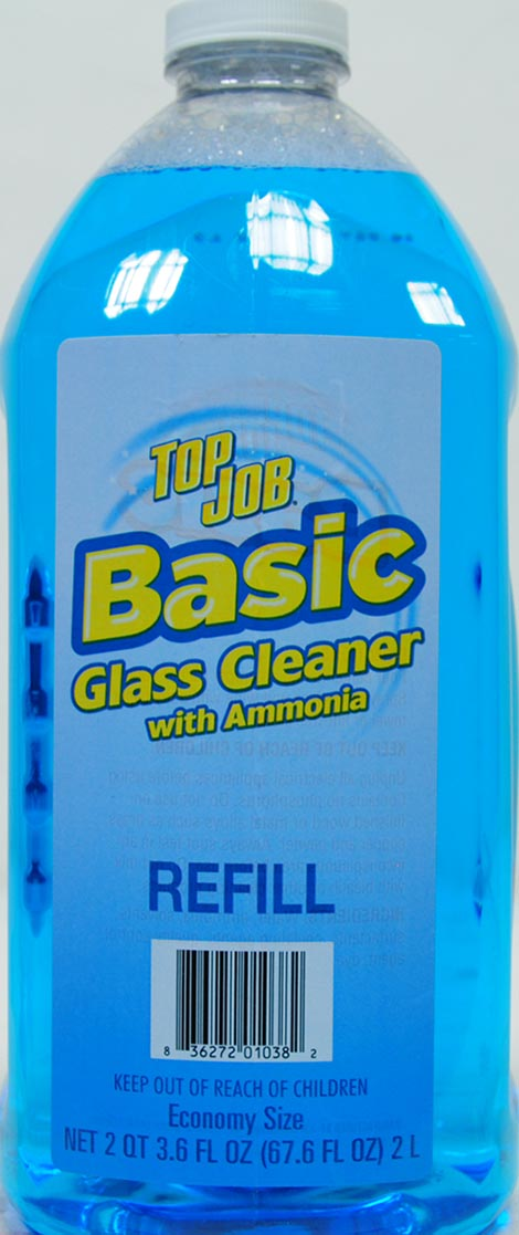Top Job Basic Glass Cleaner With Ammonia Refill