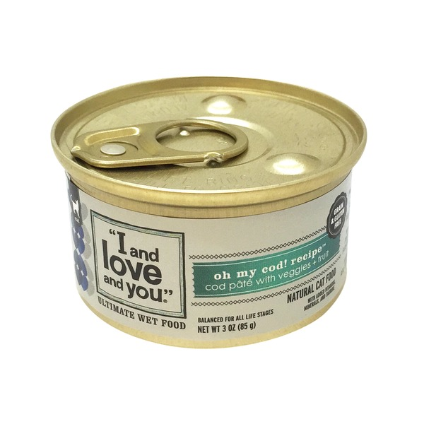 I and Love and You Oh My Cod! Cod Pate and Vegetables Cat Food