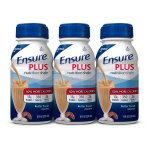 Ensure Plus Nutrition Shake with 13 grams of high-quality protein, Meal Replacement Shakes, Butter Pecan, 8 fl oz, 6 count