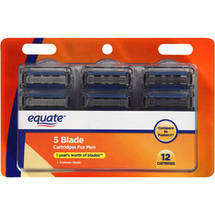 Equate 5 Blade Razor Cartridges for Men