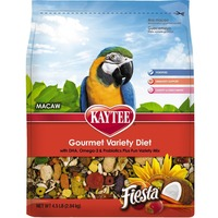 Kaytee Macaw Gourmet Variety Diet With Omega-3 & Probiotics Plus Fun Variety Mix Fiesta