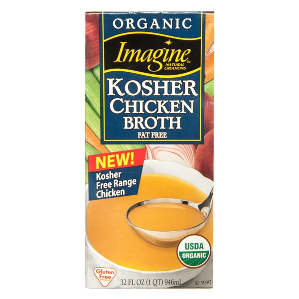 Imagine Foods Organic Kosher Fat Free Chicken Broth