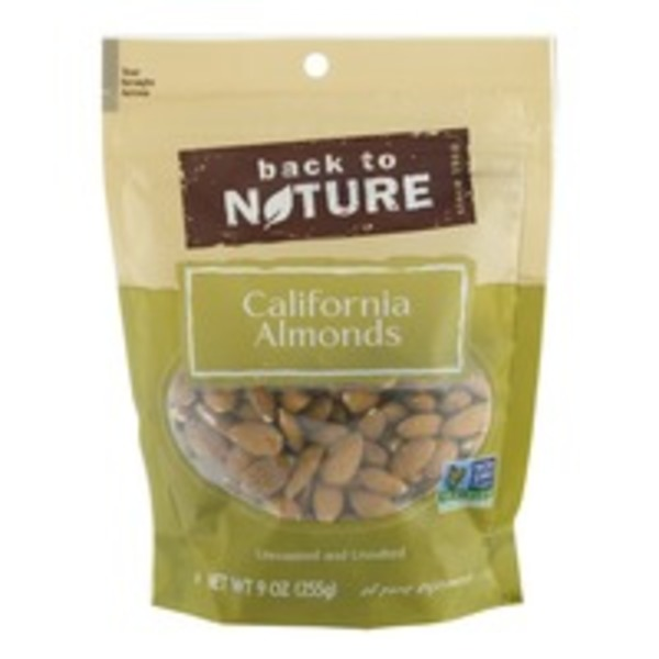 Back to Nature California Almonds, Unroasted & Unsalted