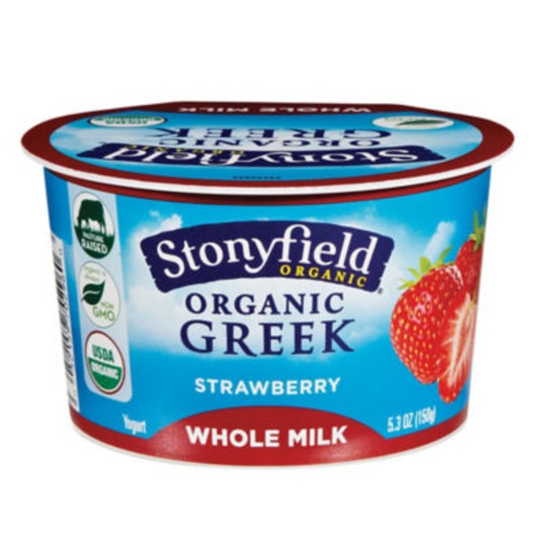 Organic Strawberry Greek Yogurt