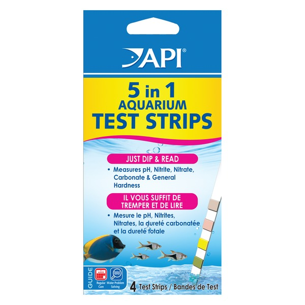 API 5 In 1 Aquarium Water Test Strips 4 Count