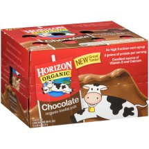 Horizon Organic Chocolate Organic Lowfat Milk, 8 fl oz, 12 count
