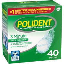 Polident® 3 Minute Triple Mint Antibacterial Daily Denture Cleanser Effervescent Tablets 40 ct Box